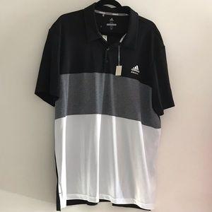 Adidas Tilly's Black & White Golf Polo Shirt 2XL